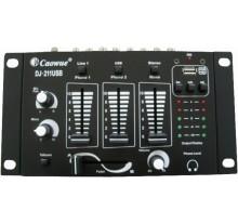 DJ ΜΙΚΤΗΣ MUSIC DJ-211USB  2 ΚΑΝΑΛΙΑ + 1MIC