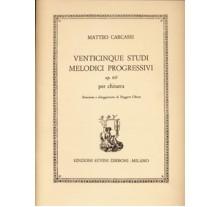 Carcassi Matteo- Venticinque Studi Melodici Progressivi op. 60