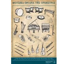 Αφίσα μουσικά όργανα της ορχήστρας