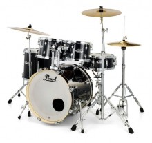 DRUM SET PEARL EXPORT EXX-705NBR (SABIAN) BLACK 20''