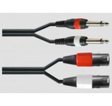 ΚΑΛΩΔΙΟ DDS THP-004/1.5m  2ΚΑΡΦΙ 6,3mm - 2XLR ΑΡΣ 1,5m.