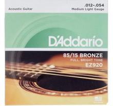 ΧΟΡΔΕΣ ΣΕΤ ΑΚΟΥΣΤΙΚΗΣ  DADDARIO  EZ-920  012