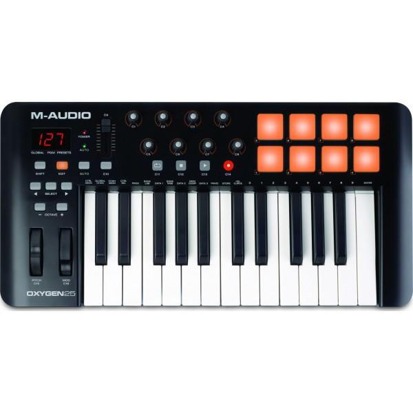 MIDI KEYBOARD CONTROLLER M-AUDIO OXYGEN-25 MK4