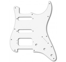 PICKGUARD MUSIC STRAT  HSS WHITE