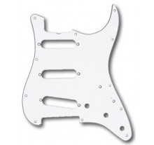 PICKGUARD MUSIC STRAT  SSS WHITE