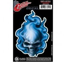 ΔΙΑΚΟΣΜΗΤΙΚΟ ΤΑΤΟΥΑΖ ΚΙΘΑΡΑΣ PLANET Blue Flame Skull