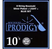 ΧΟΡΔΕΣ ΣΕΤ 8 ΜΠΟΥΖΟΥΚΙΟΥ PRODIGY BLUE,  LIGHT SILVER 010
