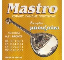 ΧΟΡΔΕΣ ΣΕΤ 8 ΜΠΟΥΖΟΥΚΙΟΥ  MASTRO   Phoshor Bronze 011